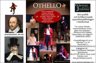"""Othello"" på  Teater Improvisation & Co."