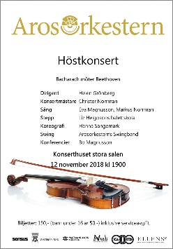Arosorkestern Höstkonsert 12 november 2018.